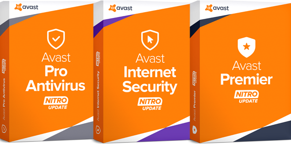 Avast antivirus Pro, Internet Security, Premier